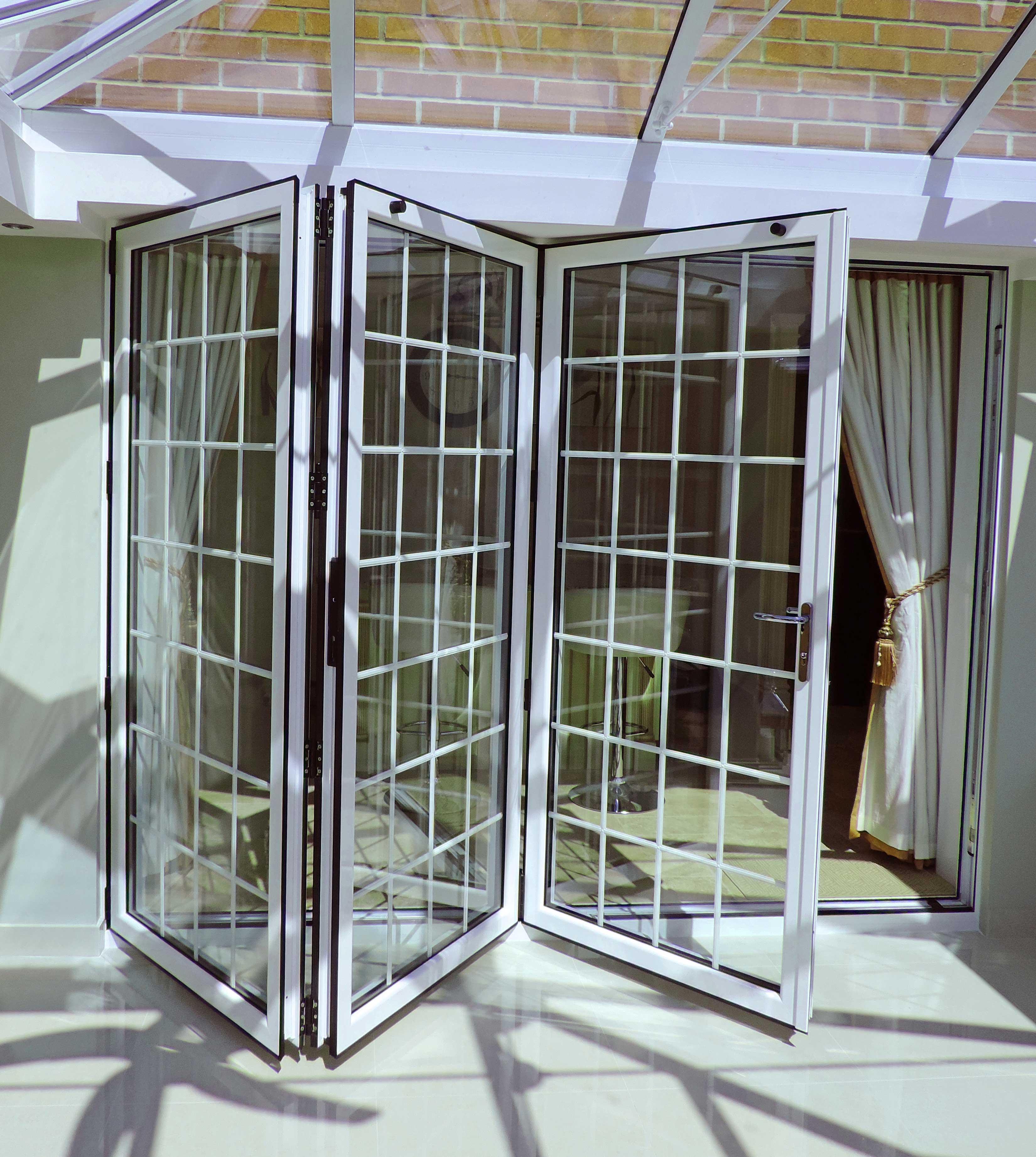 Orangery and Bi-Fold Doors in White