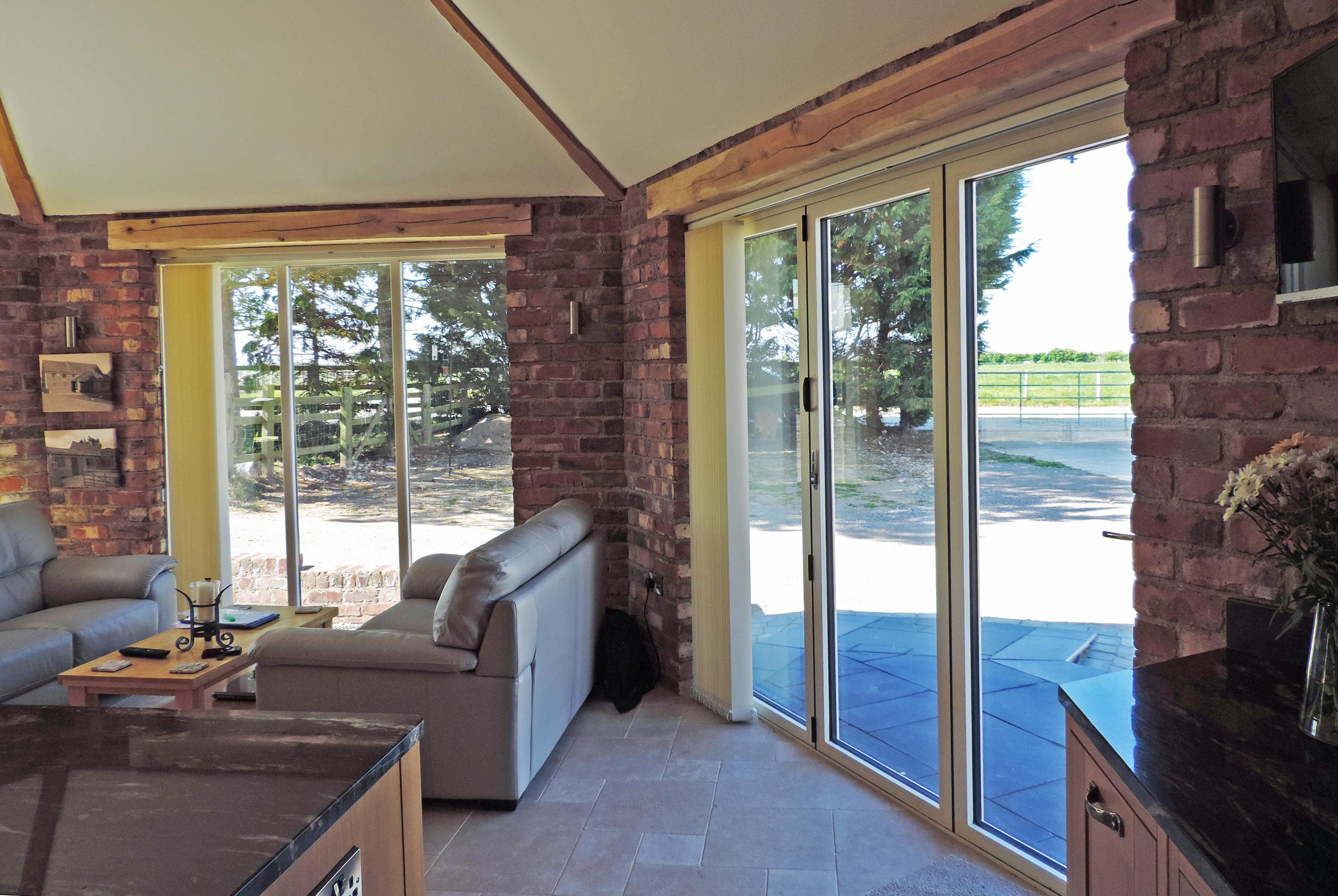 White Bi-Fold Doors Internal