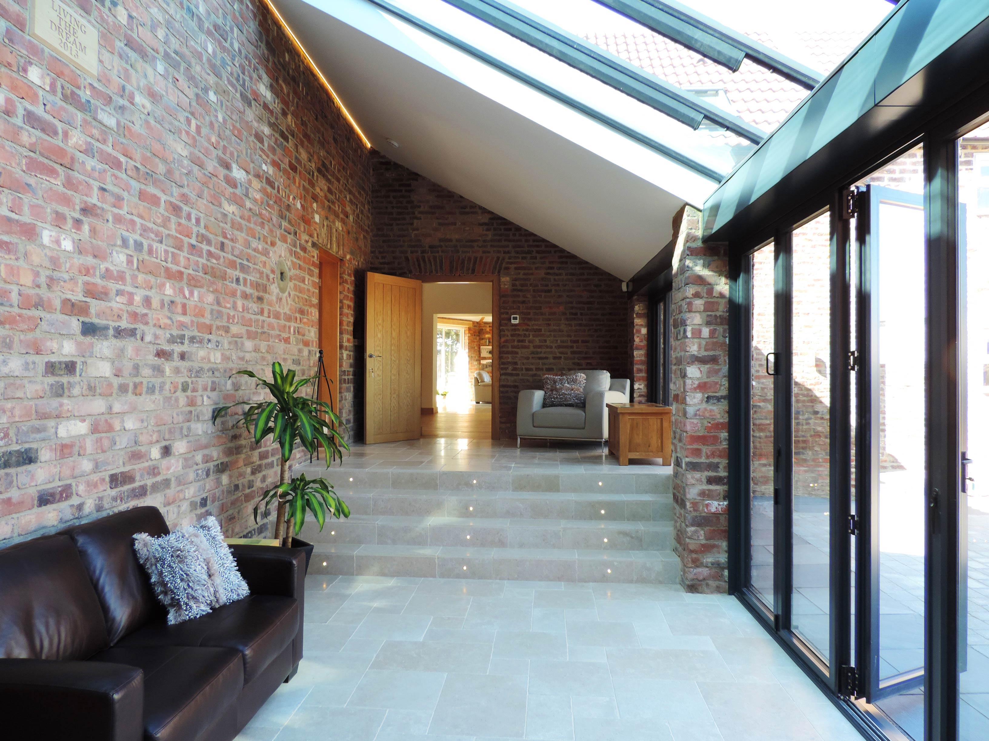Anthracite Bi-Fold Doors and Orangery Internal