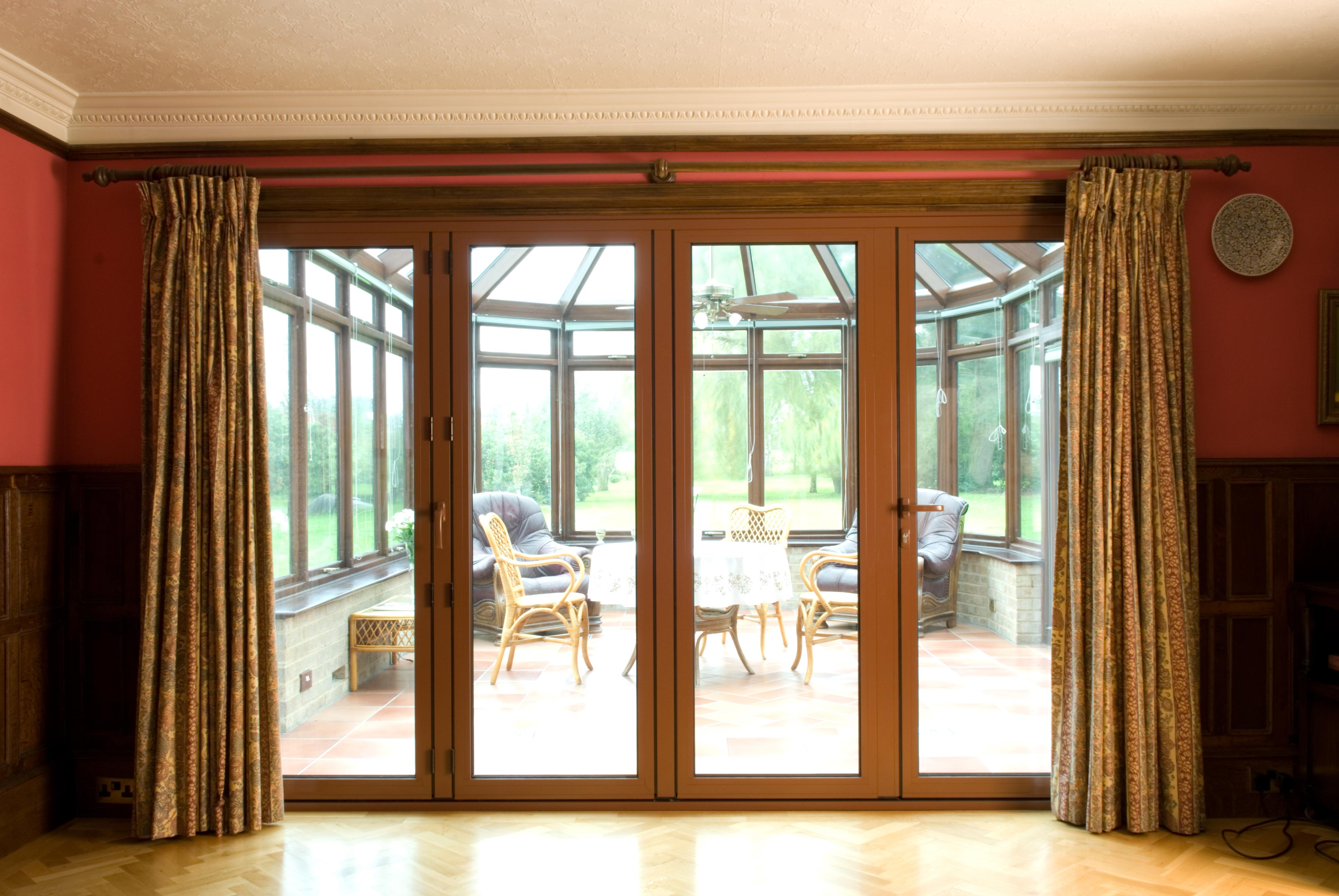 Brown Bi-Fold Doors in Brown