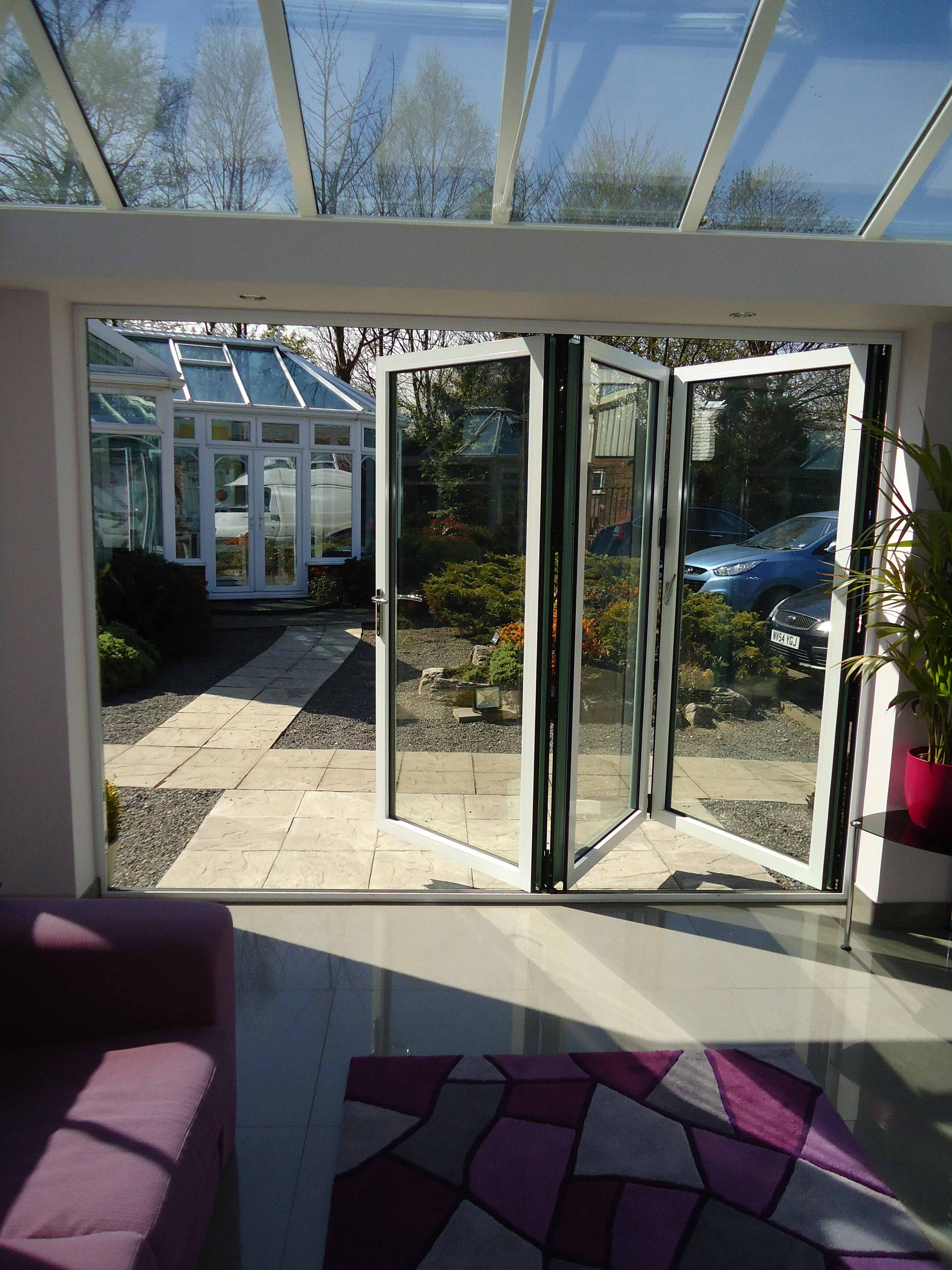 Orangery and Bi-Fold Doors Internal in White
