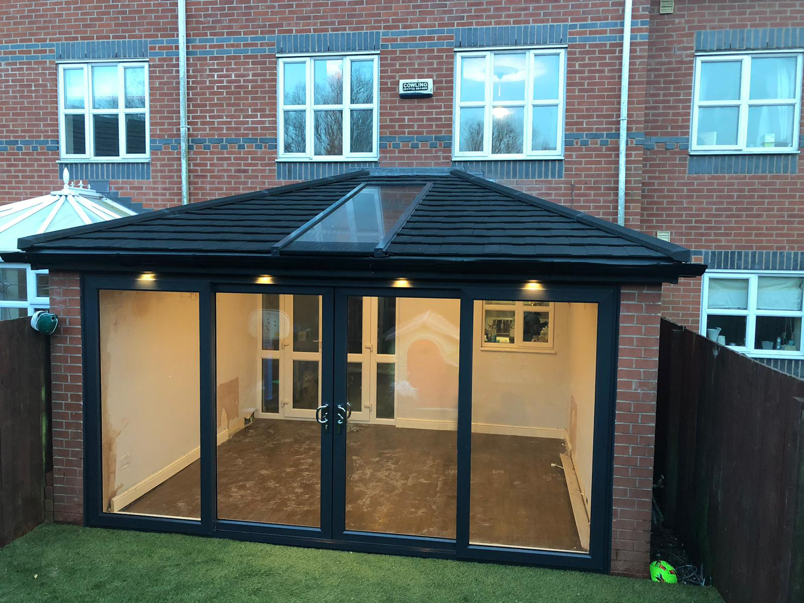 Tile Effect Roof and UPVC Windows & Doors in Anthracite