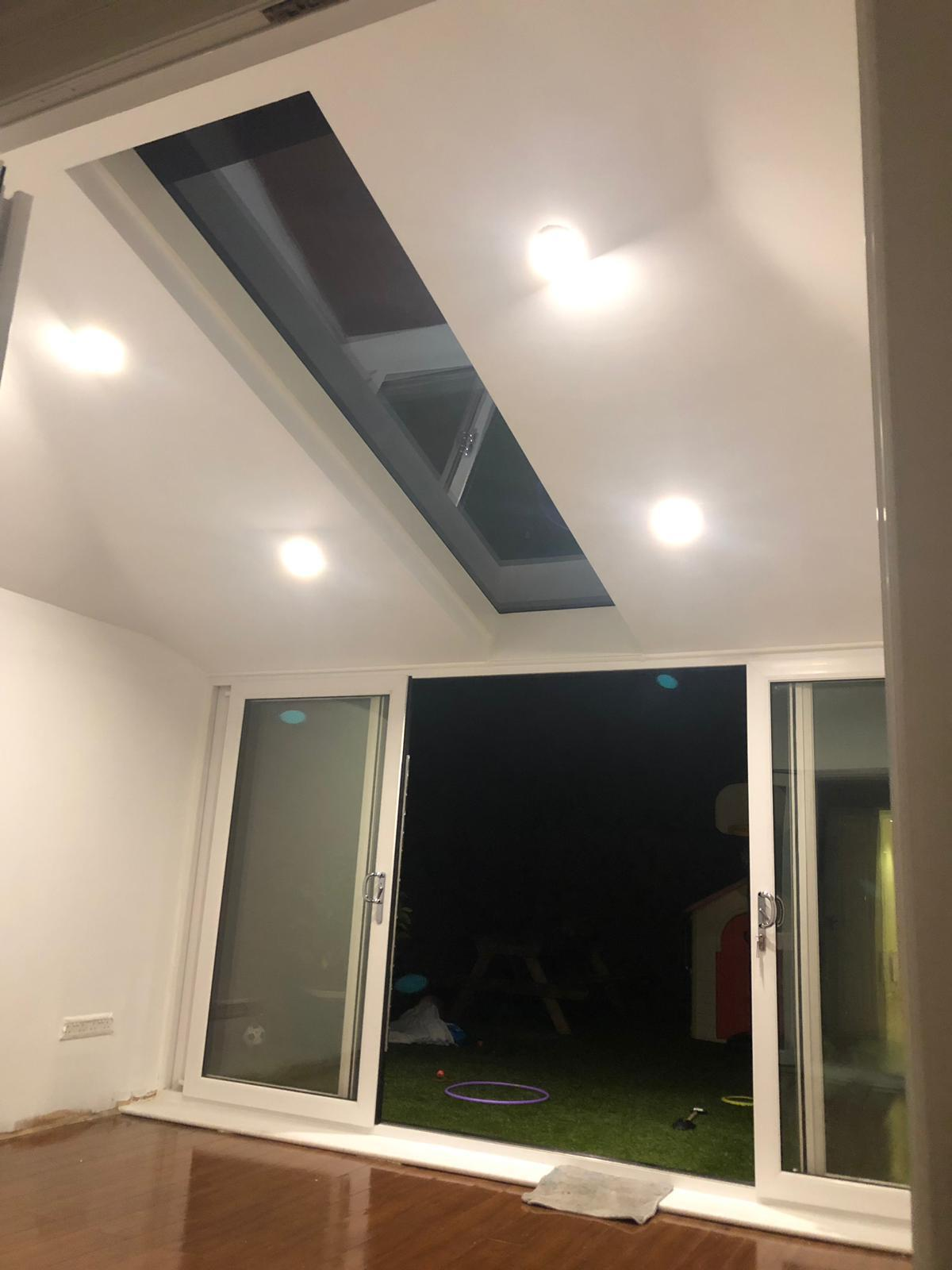 Skylight and White UPVC Windows & Doors in White