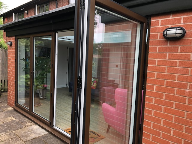 Brown Bi-Fold Doors