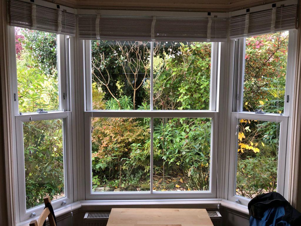 White Rehau Heritage Window Internal