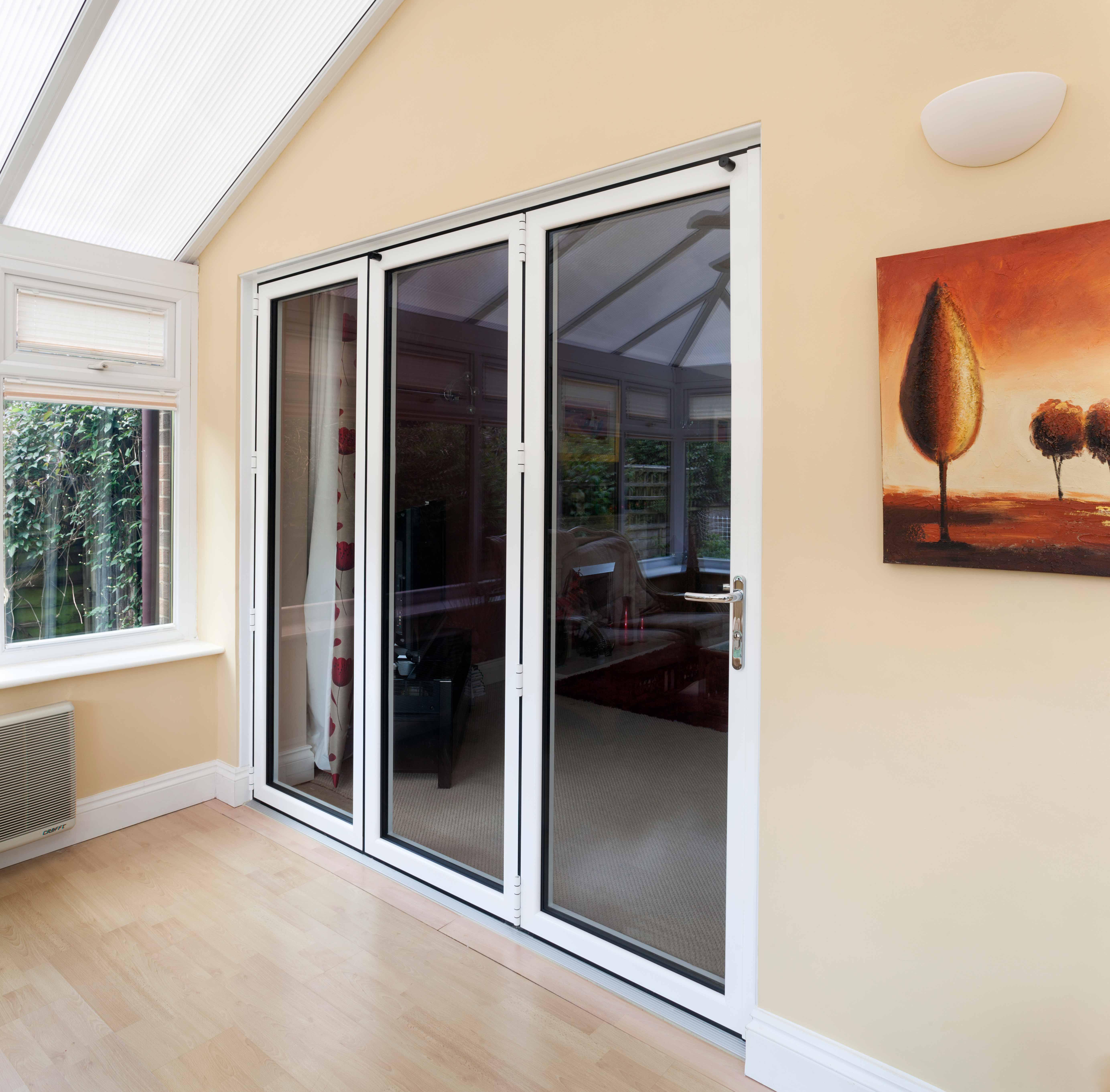 Bi-Fold Doors and UPVC Windows in White