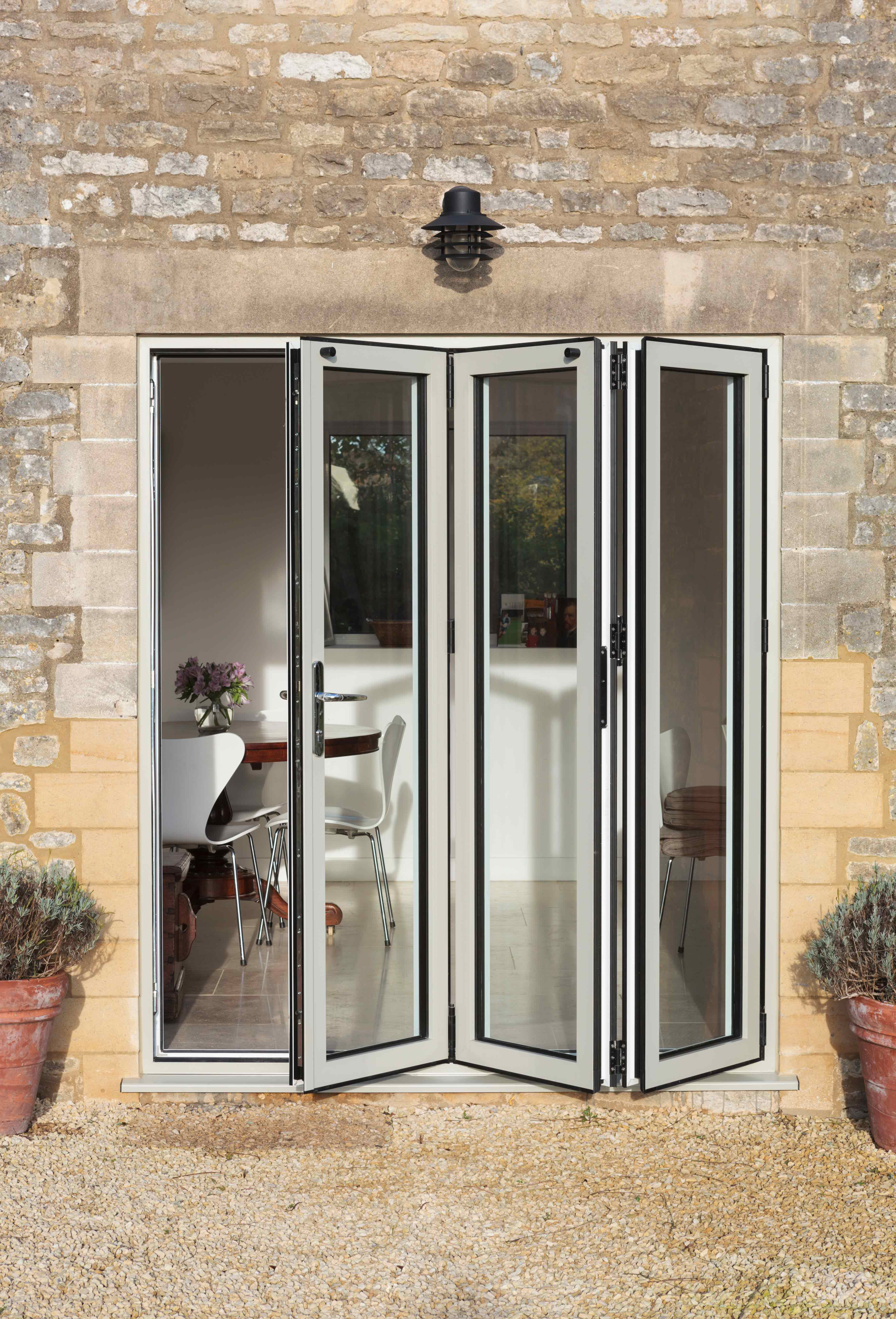 White Bi-Fold Doors